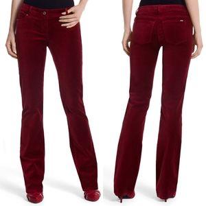 WHBM Velvet Red Noir Sleek Pants NEW with tags!
